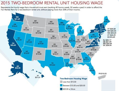[Interesting Maps] Hourly wage required to rent a 2 bedroom in each US state.-> but min wage is $7.25??? ^th