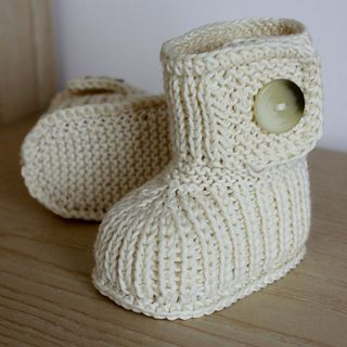 This is a Knitting PATTERN Winter Baby Boots.
