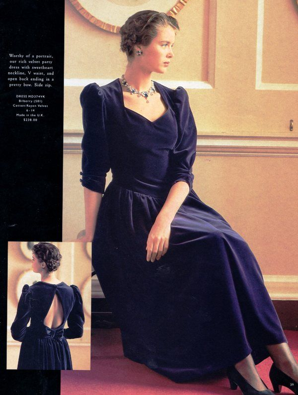 Laura Ashley evening dress from the 1990s. (Repinned)