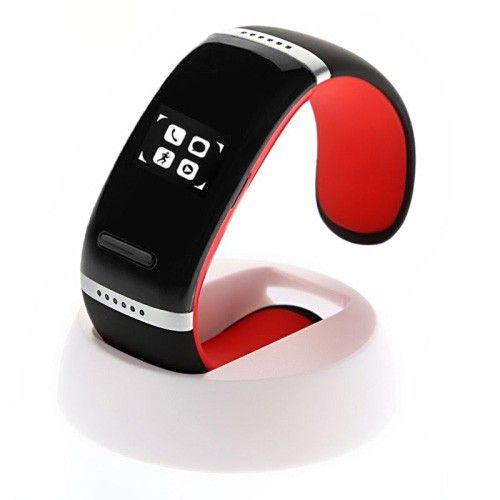 Reloj pulsera  fitness podometro bluetooth V3.0 con display tactil en color rojo #fitness #health #sports