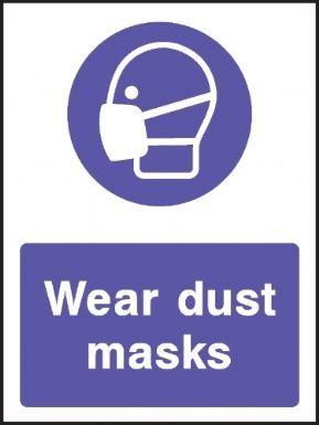 Wear dust masks warning sign