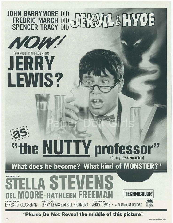 SEVENTEEN  1963 Magazine Ad Paramount Movie The Nutty Professor ad