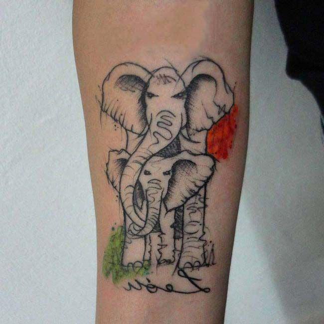 kol dövmesi fil