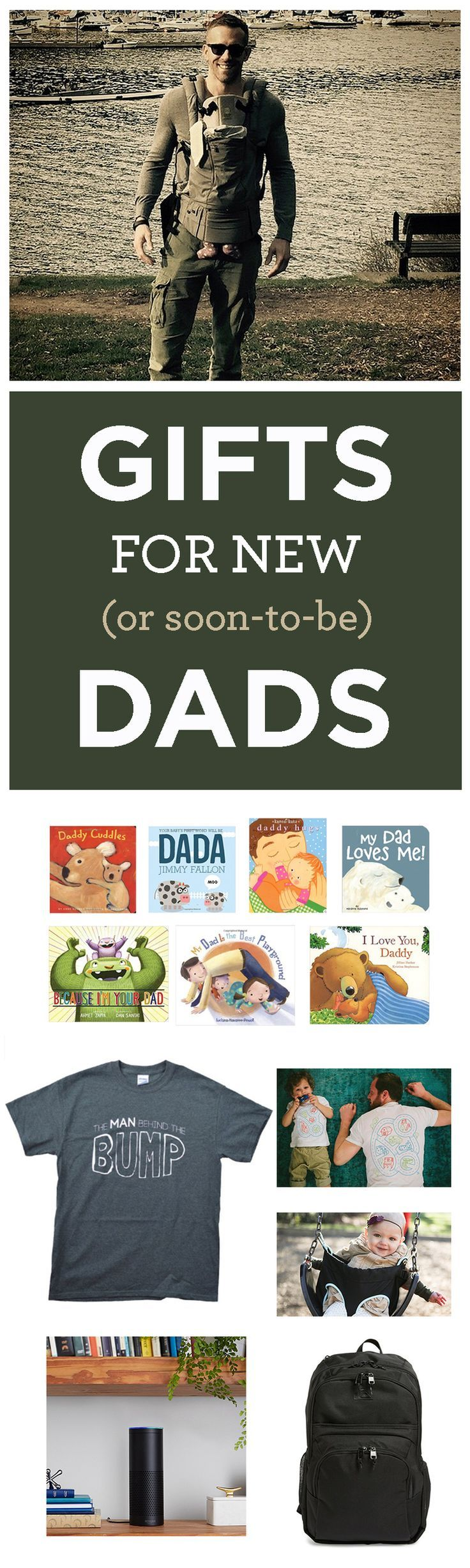 Whether it's for a baby shower, Father's Day or just for being awesome, here are some incredible gift ideas for new or soon-to-be dads. Includes splurges and DIY projects, gifts from kids and from a spouse! #fathersday #fathersdaygifts