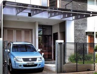 Desain Kanopi Rumah Minimalis Metal