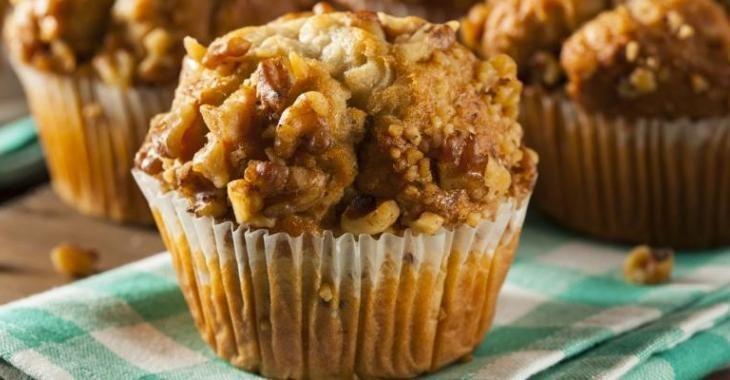 Voici un muffin à la banane et aux noix fait de yogourt...Miam