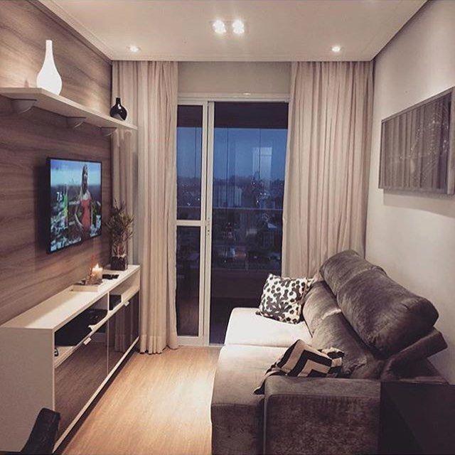 """1,459 Likes, 20 Comments - Dicas de decoração pro seu Apê (@decoracaodoape) on Instagram: """"Mini salinha.  Pequenos ambientes e seus charmes! ❣ #pequenosambientes #decoraçãodoapê #sala…"""""""