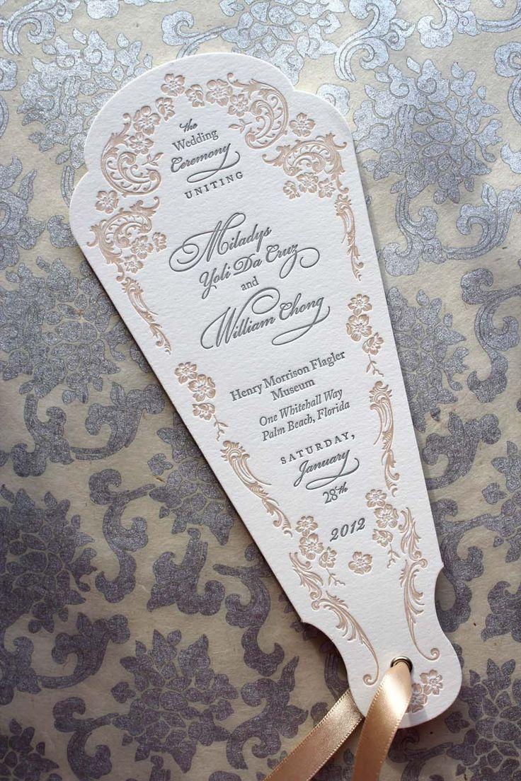 Wedding Program Fan. Vintage feel to these unique wedding programs.