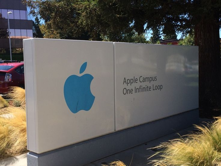 Apple Inc. sign, 1 Infinite Loop, Cupertino, CA