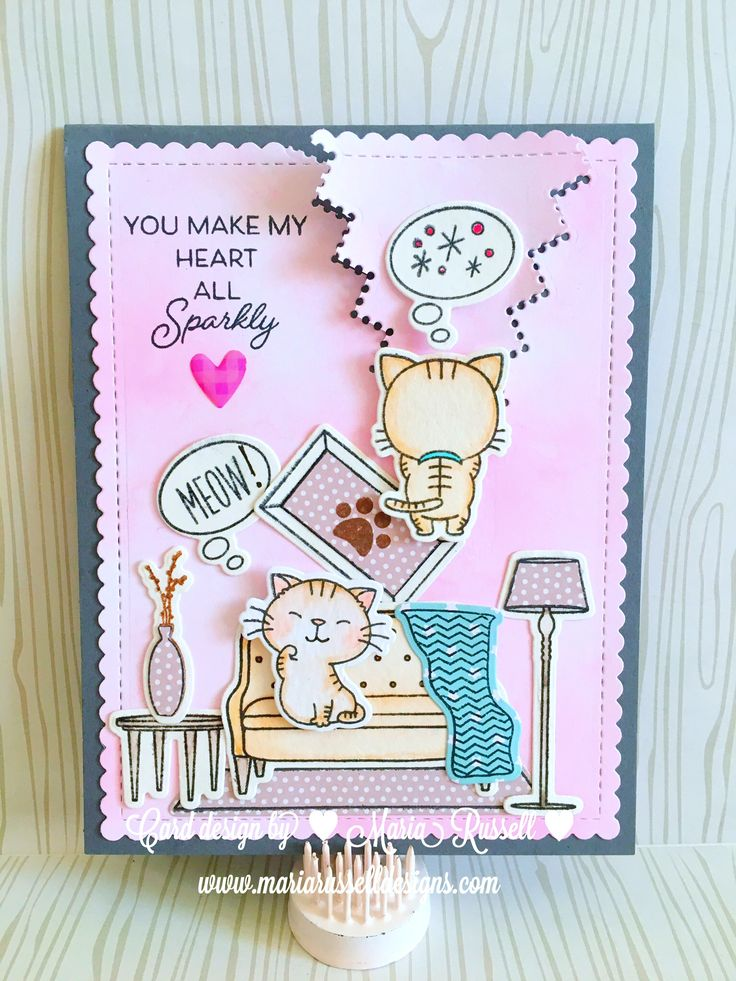 How To Make Friendship Cards Part - 42: Naughty Kitty Cat - Funny Anjiversary Cards #mftstamps Cool Cat Stamp Set,  Make Yourself. Friendship ...
