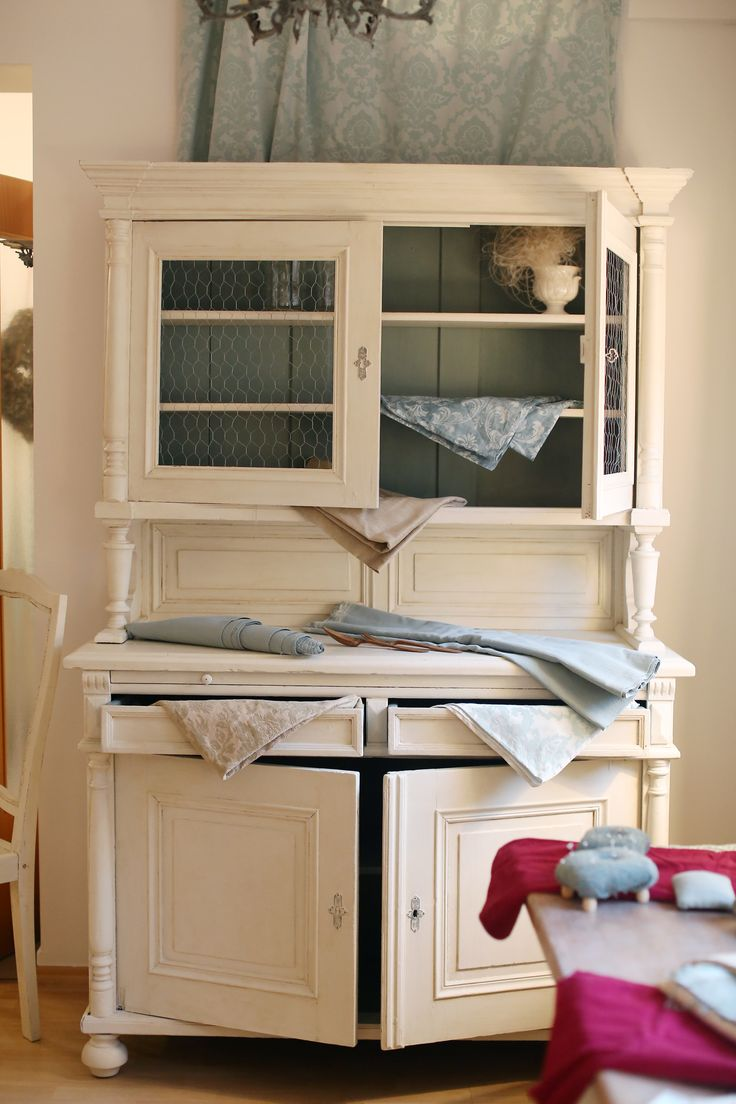 Old Chiffonier with Old White and Duck Egg Blue