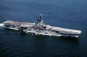 USS Lexington (CVS-16). My first carrier landings were made on the WWII vintage carrier. Training boat for many a Naval Aviator.