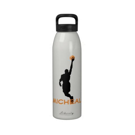 Personalized Sport Athlete Basketball Player Shoot Water Bottle
