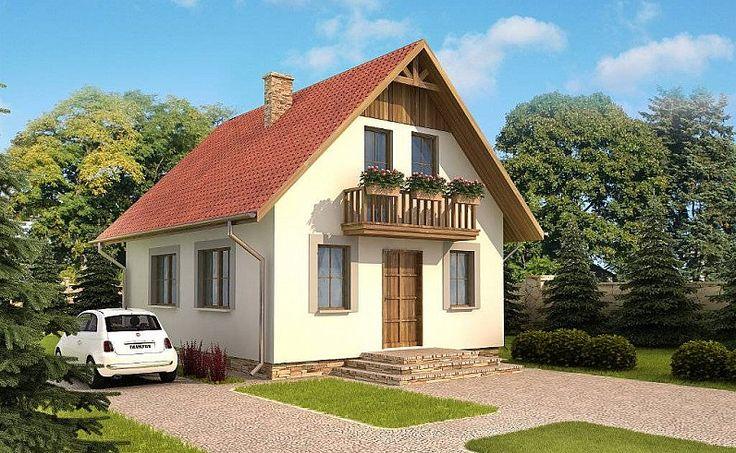 Wizualizacja budynku według projekt domu Domek Mały 004 SK