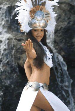 Hula Costume White with Headpiece