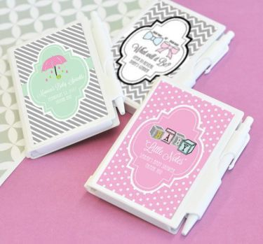 Personalized Notebook Baby Shower Favors - pack of 24