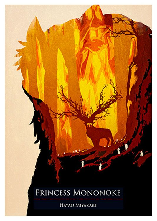 Mononoke Princess Movie Poster, available at 45x32cm. This poster is printed on matt coated 350 gram paper.