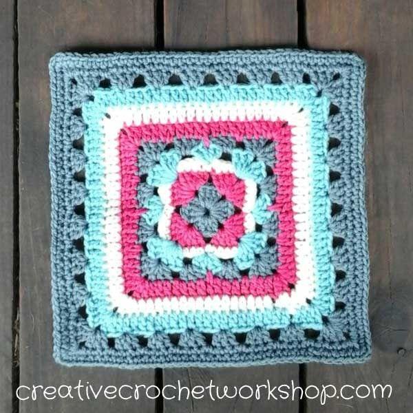 Anemone Granny Lace Square http://www.freecrochettutorials.com/tutorials/creative-crochet-workshop-49-anemone-granny-lace-square/