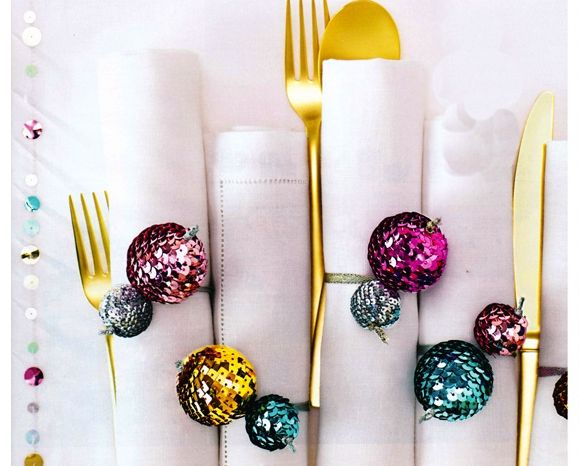 Jazz up your table napkins with beautiful, colourful balls. Add #ColourToLife!
