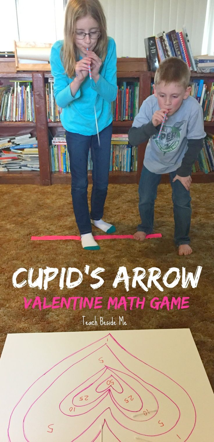 Valentine's Day STEM- Cupid's Arrow Math  Learning Game via @karyntripp