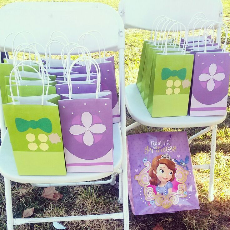 Sofia the first and Prince James Goodie bags-DIY