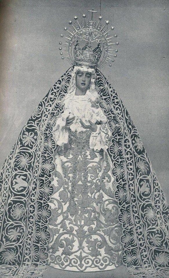 Antigua estampa de la Virgen del Valle.