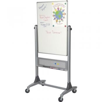 bestrite platinum lumina reversible mobile whiteboard size h x l - Rolling Whiteboard