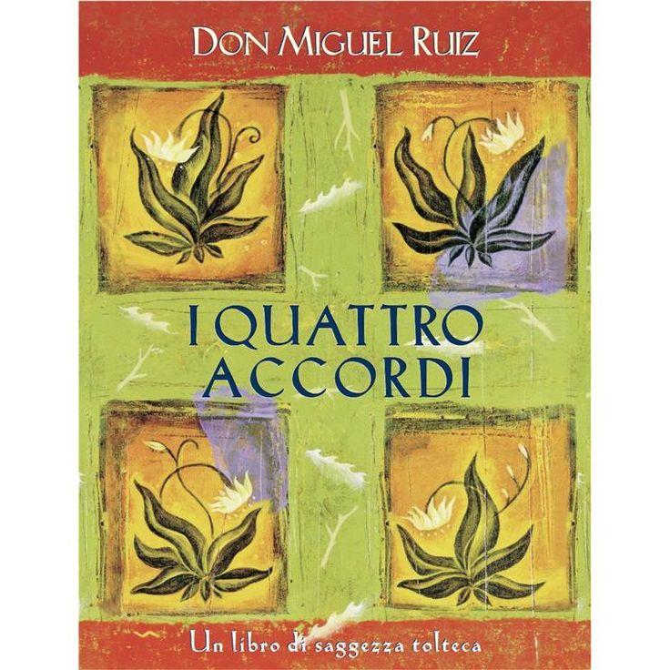 """I QUATTRO ACCORDI - Don Miguel Ruiz - """"Sei vivo. Prendi la tua vita e gioisci di essa. Sei nato con il diritto di essere felice, di amare e condividere il tuo amore. Semplicemente essere, accettare il rischio e gioire della vita, è tutto ciò che conta."""" http://www.ebooklife.it/crescita-personale/10441-i-quattro-accordi.html"""
