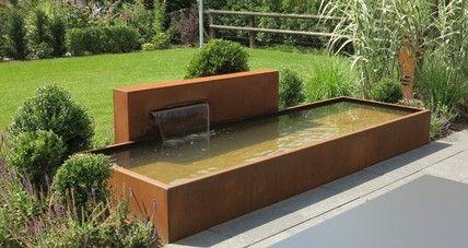 Brunnen und Wasserbecken aus Cortenstahl - Stahl für den Garten und das Heimhttp://www.stahlelemente.com
