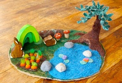 Gorgeous needle felted play mat.