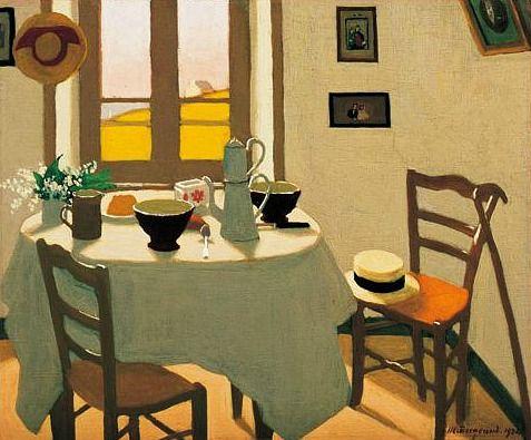 Marius Borgeaud The White Room 1924 - still life quick heart