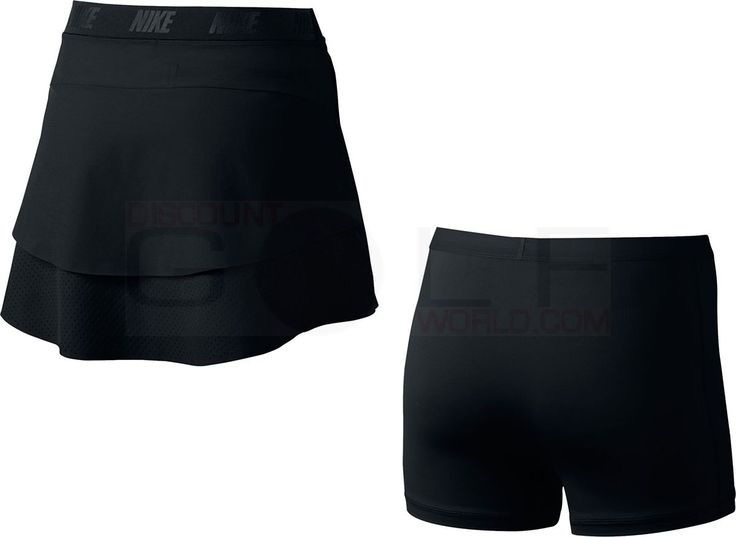 Nike Women's Innovation Links Woven Skort Stay dry and comfortable  $95.00 Color - Black