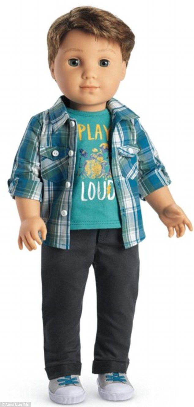 He's ready to rock: Logan is American Girl's first ever 18-inch boy doll