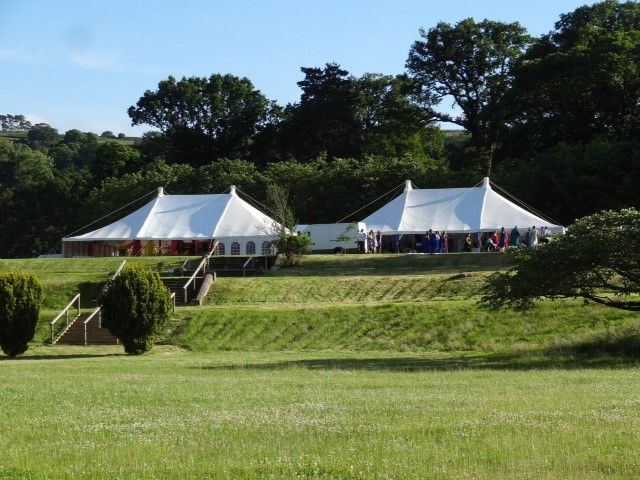 Two 40' Traditional for an Indian and Welsh Wedding at the fabulous Glanusk Estate http://www.glanuskestate.com/