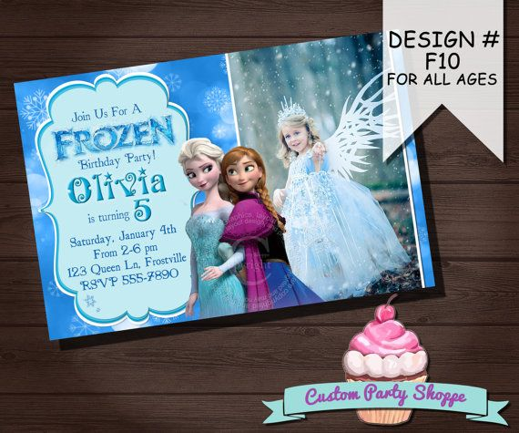 26 best Frozen Birthday party - invitations images on Pinterest