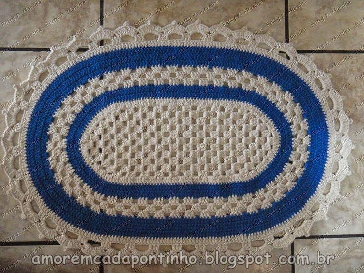 PAP, Passo a Passo Tapete oval em crochê