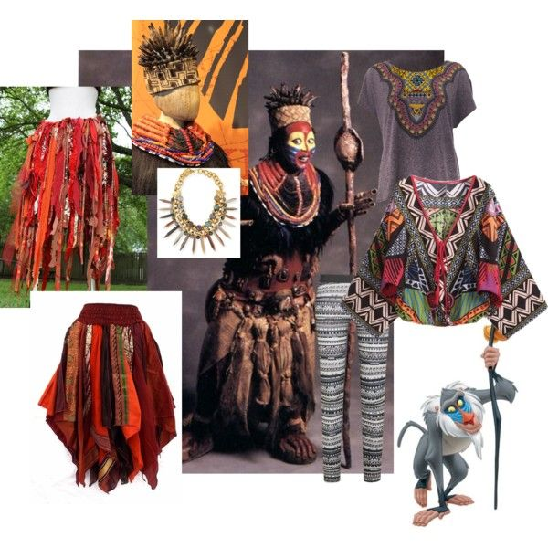Rafiki Costume by rachael-nicole-henry on Polyvore featuring Truly Madly Deeply, NIKE, Ashley Pittman and Disney