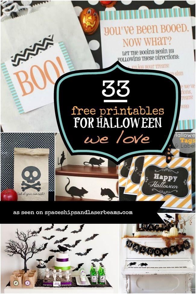 Best 76 Halloween - Printables ideas on Pinterest Halloween crafts - halloween decoration printables