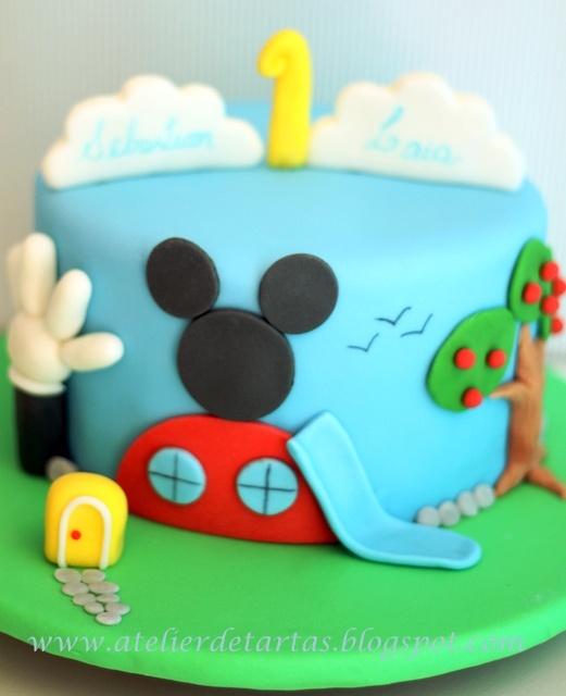 Tarta Fondant Cumpleaños La Casa de Mickey Mouse
