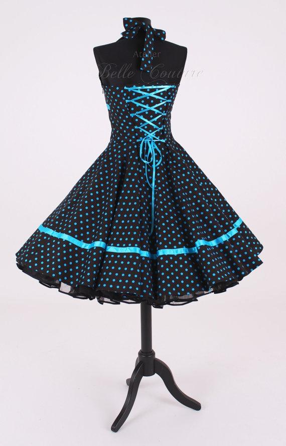 50s petticoat dress.   Pretty color.