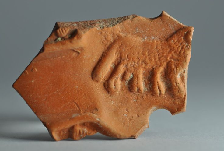 North African red slip oil lamp fragment with animal 2