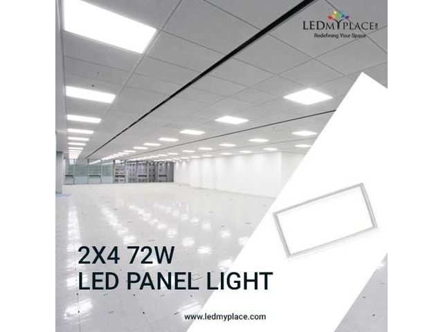 Install Led Panel Light 2x4 To Enlighten Up Your Office Led Panel Light Led Panel Paneling