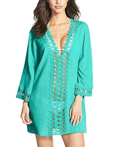 Starepe Vestido Kaftan de Playa de Verano para Mujer, Color Verde Talla Unica Starepe http://www.amazon.es/dp/B010AM1QQE/ref=cm_sw_r_pi_dp_uTwRvb17QCMJK