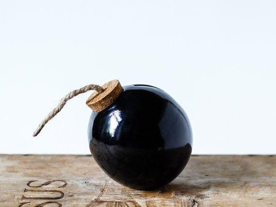 Tirelire Pot en céramique design moderne La par OlisCupboard