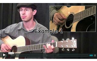 This lesson focuses on moving your thumb to different strings | www.elmore-music.com