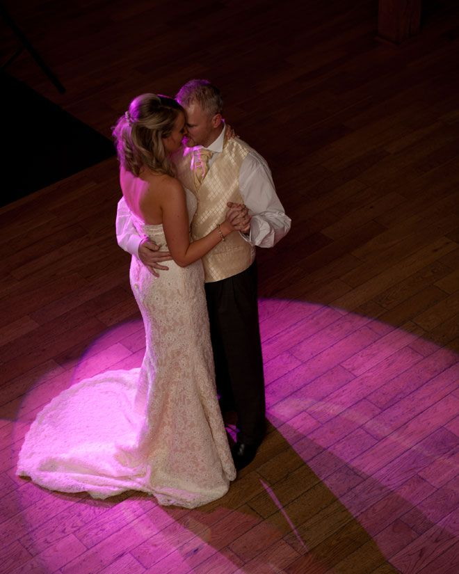 Bride and groom's first dance at Rivervale Barn Christmas wedding | www.allabouttheimage.co.uk