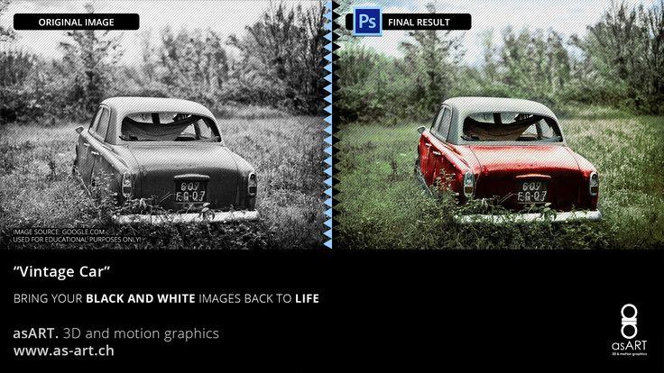 """Vintage Car"" Black and Colour Collection"