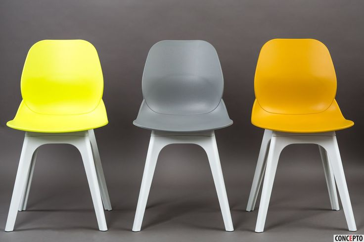 Plastic dining chairs Apple by Concepto