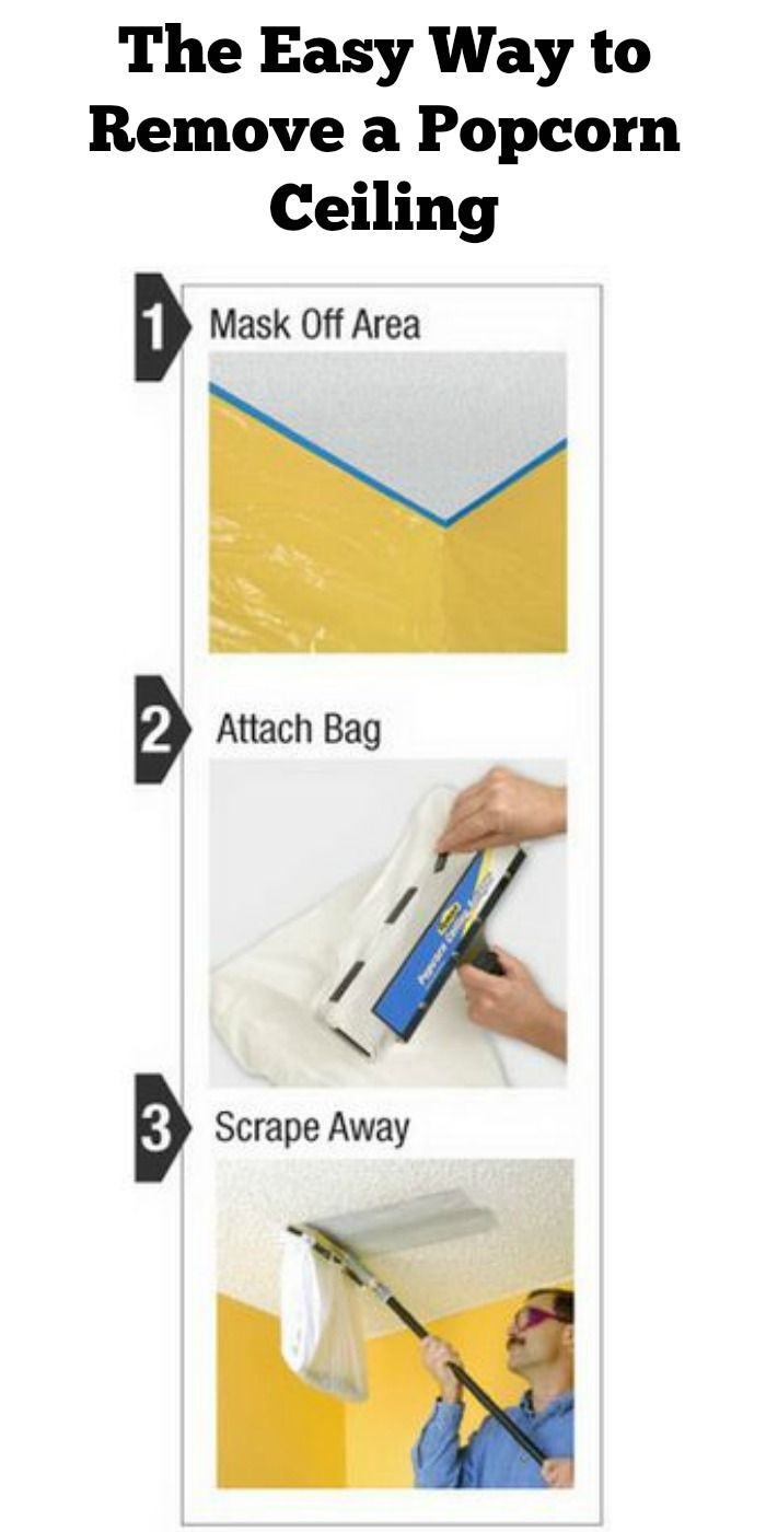 Remove a popcorn ceiling the easy way.