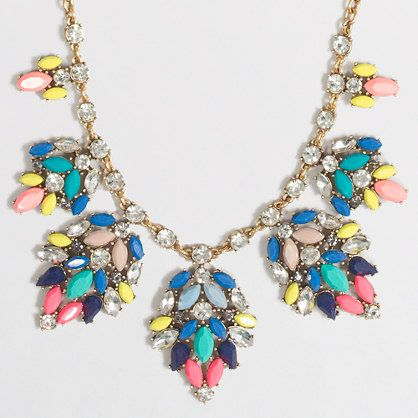 J.Crew Factory  Factory stone leaf clusters necklace